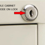 key code for a file cabinet lock